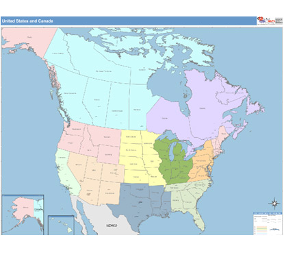 Regional maps from custommapping americas leading source of us and canada sciox Image collections